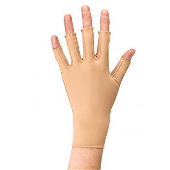 Microfine Glove with Compressive Fingers
