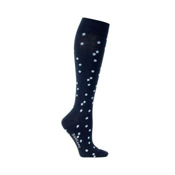 SupCare Womens Support Socks with Flowers 15-21mmHg