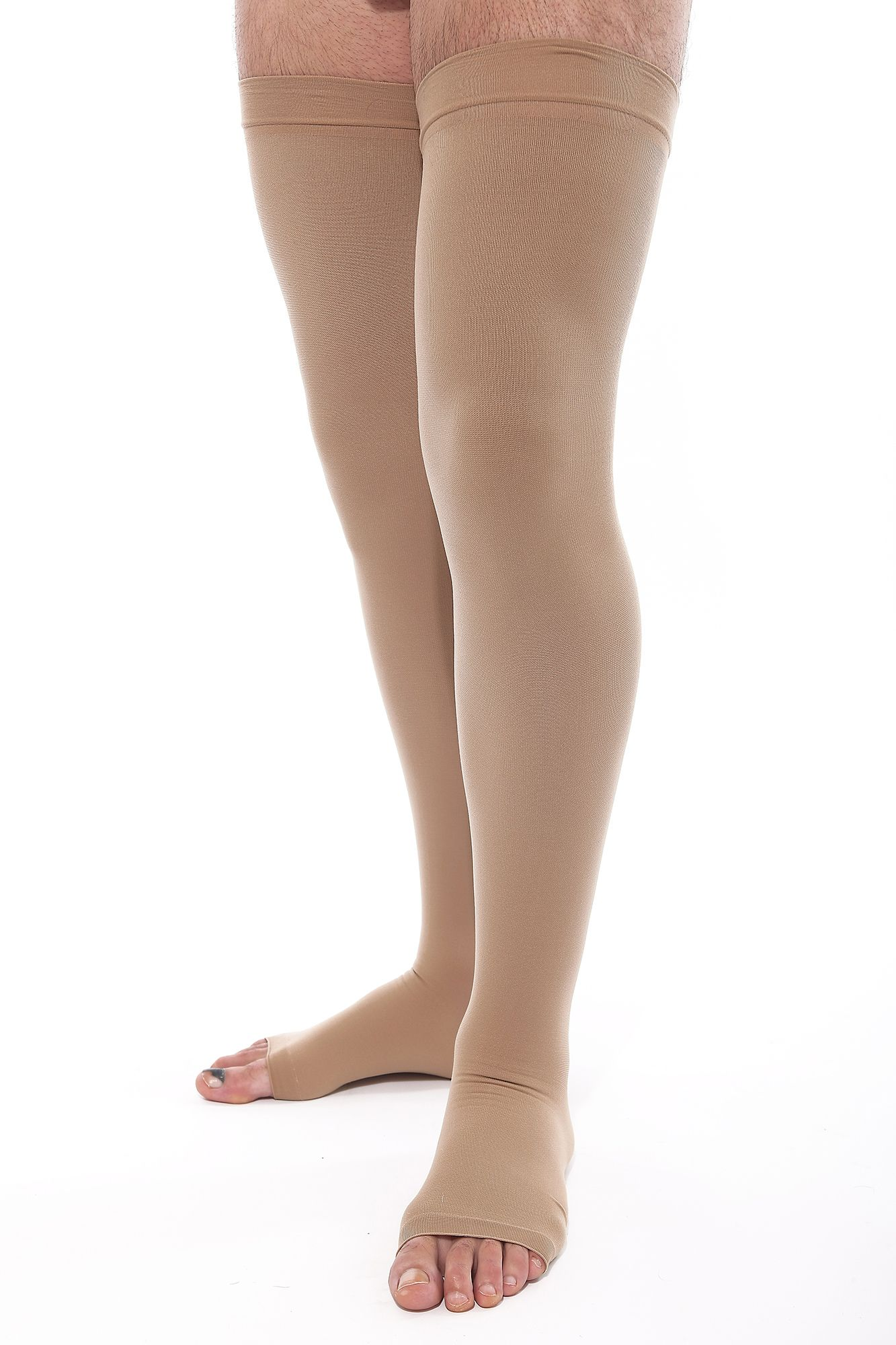 long compression stockings